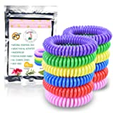 Mosquito Repellent Bracelets- 15 Pack - Stretchy bug insect bands for Adults & Kids - 100% Natural, Non-Toxic Ingredients (No Deet) - Waterproof & Long-Lasting for Bug-Free Camping, Hiking, Outdoors (Color: Pink, Yellow, Red, Green, Blue, Tamaño: one size fits all)