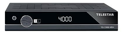 Telestar 5310474 TD 2300 HD+ HDTV Satelliten-Receiver (DVB-S/DVB-S2, FullHD, HDMI,Scart,USB, Display) inkl. 6 Monate HD+ schwarz