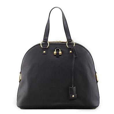 Saint Laurent YSL Large Muse Handbag Black Dome Satchel: Handbags ...