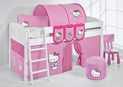 Lilo Kids IDA4106KW Hello Kitty Cot Wooden Hello Kittty Pink 208x 98x 113cm