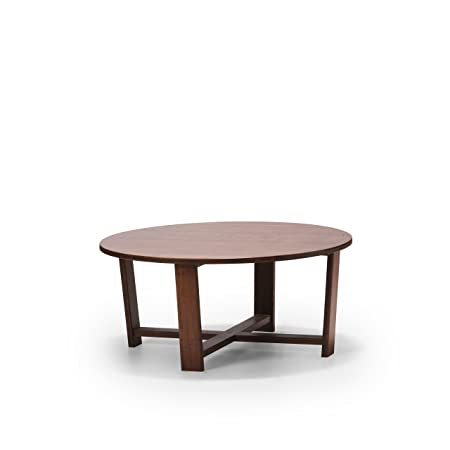 Greenington Exotic Daisy Round Coffee Table, Caramelized