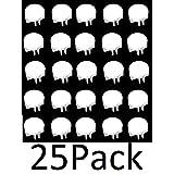 JSP Manufacturing Wire Cube Plastic Connectors snap mesh Organizer Grid (25, White) (Color: White)