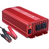BESTEK Power Inverter 1000 Watt DC 12 Volt Power Converter 1000w DC to AC Car Inverter Electronics Devices Inverter … … … (Tamaño: 1000w)