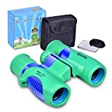Cycvis Binoculars for Kids 8X21- HIGH Resolution, Shockproof | Kids Binoculars for Bird Watching, Best Gift for Boys, Girls | Real Optics Set for Outdoor Games | Detective & Spy Gear (Color: green)