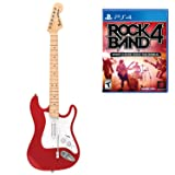 Mad Catz Rock Band 4 Wireless Fender Stratocaster Guitar Controller and Software Bundle for PlayStation 4 - Red (Color: Red)
