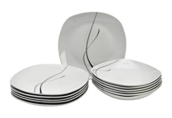 tafelservice silver night 12tlg f r 6 personen dc590. Black Bedroom Furniture Sets. Home Design Ideas