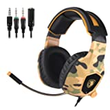 SADES SA818 Xbox One Mic PS4 PC Gaming Headset Gaming Over Ear Headphones with Mic for PS4, PS4 PRO, Xbox One, Xbox One S,Laptop Mac Tablet iPhone iPad iPod(Camouflage) (Color: SA818Camouflage)