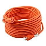 Epicord 16/3 Extension Cord Outdoor Extension Cord (100 ft) Orange heavy duty extension cord (Color: Orange, Tamaño: 16/3 100ft)