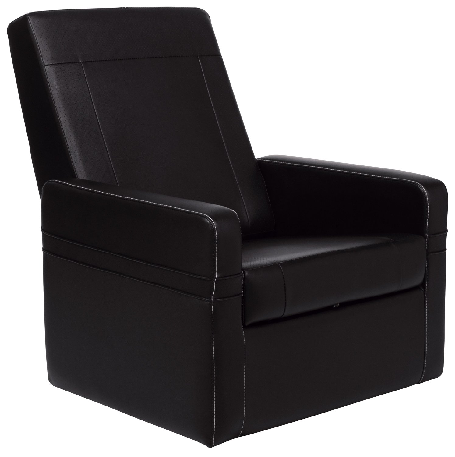 Entertainment Ottoman/Gaming Chair, PureSoft Faux Leather, Black, CR-43668 - Entertainment Ottoman/Gaming Chair, PureSoft Faux Leather, Black