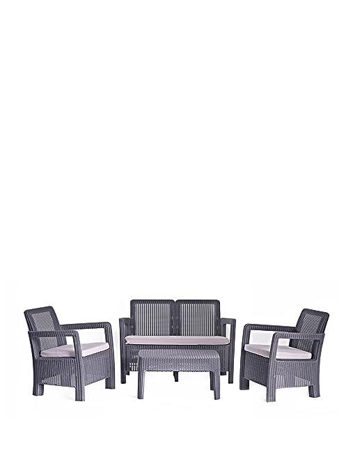 Curver m283873–Set Ratan Resin Tarifa Lounge Set Anthracite