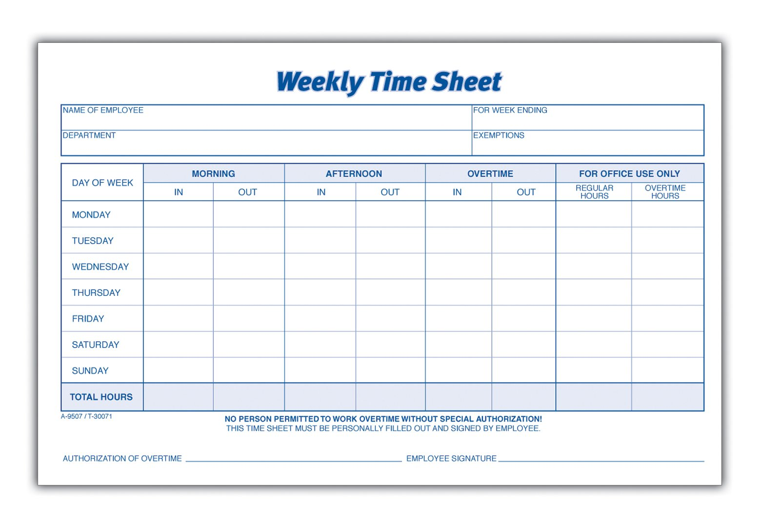 Weekly Time Sheet Pictures to pin on Pinterest