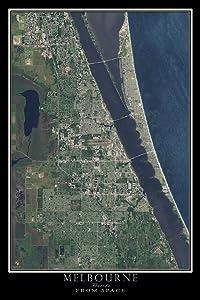 Melbourne Florida Satellite Poster Map