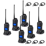 Two-Way Radios 5 Watt Long Range 20 Channel Rechargeable UHF 400-470MHz Walkie Talkies with Earpieces 6 Pack Battery Chargers Included (Tamaño: Handheld radio (6 Pack))