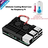 iUniker Raspberry Pi Armor Case, Raspberry Pi Metal Case With Dual Fan Aluminium Alloy, Raspberry Pi Fan, Heatsink for Raspberry Pi 3 Model B, Pi 2 B (Not Compatible With the Latest Pi 3 B+) (Color: For Pi 3B/2B)
