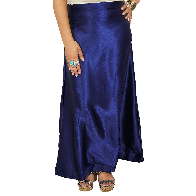 Indian Silk Satin Petticoat Bollywood Solide Inskirt Futter für Sari