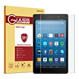 OMOTON Screen Protector for All-New Fire HD 8 (2018/2017/2016 Release), Tempered Glass/HD/ 9H Hardness (Color: Clear)