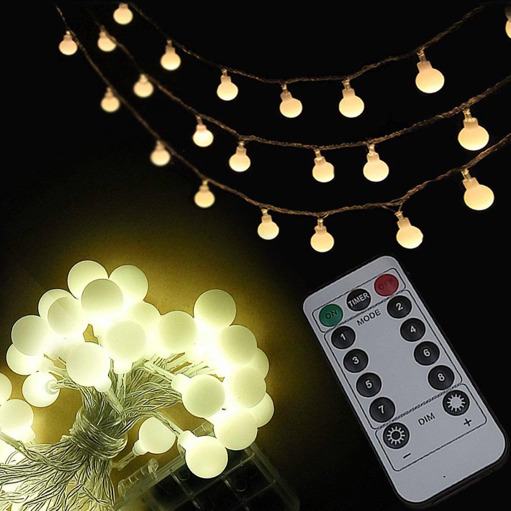 ?Timer? USICIG LED Dimmable Flickering String Lights 8 Modes Battery eBay