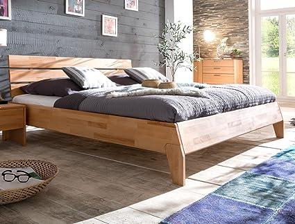 Massivholzbett Divico 160x200 Kernbuche geölt Doppelbett Ehebett Schlafzimmer Holzbett Bett