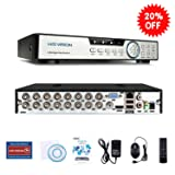 HISVISION 16CH 1080N AHD DVR 5-in-1 Hybird (1080P NVR+1080N AHD+960H Analog+TVI+CVI) CCTV Home Security Surveillance HDMI/VGA Quick QR Code Scan Remote Access Motion Detection & Email Alerts(No HDD)