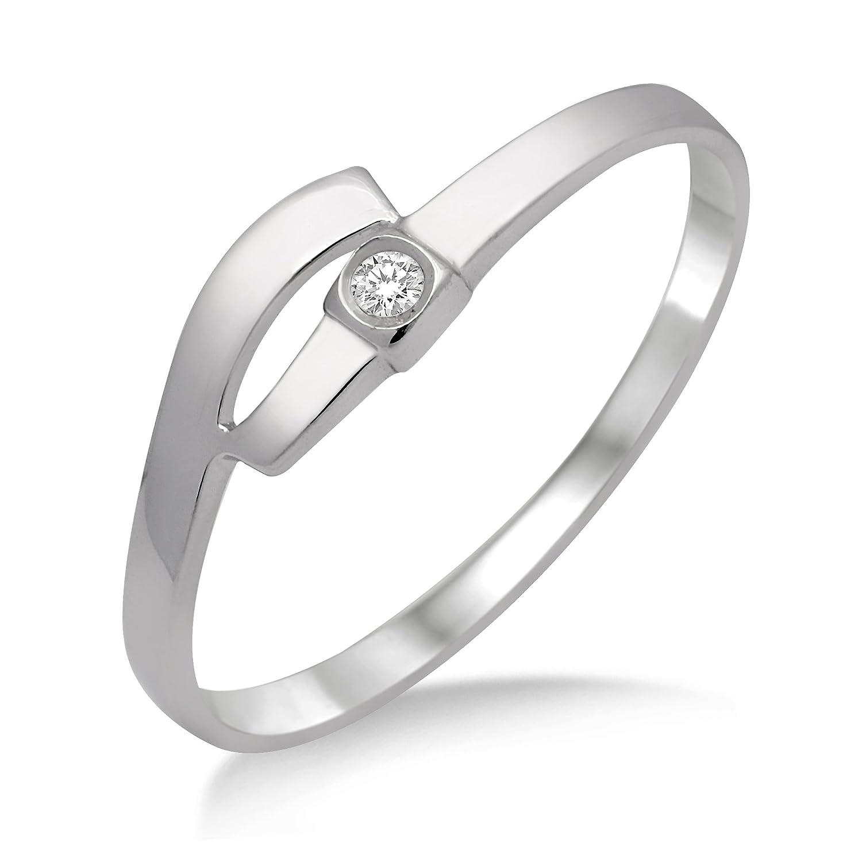 Miore Damen-Ring 375 Weißgold mit Brillant MA939R online kaufen