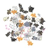 Cute Cats Stickers Transparent Diary Scrapbooking Labels Decorative Tags 80 Pcs (Color: Cat, Tamaño: 8.5×8.5cm)