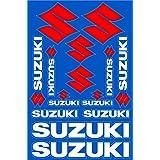 Suzuki Decals Stickers Motorcycle Vinyl Graphic Set (Color: White)