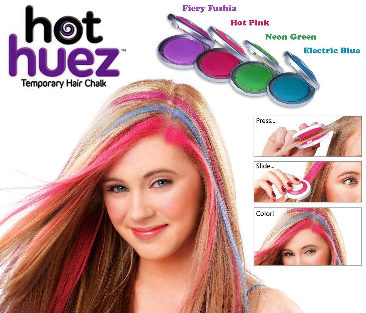Gadget Heros Hot Huez Temporary Hair Chalk Set Of 4 Colors Toys