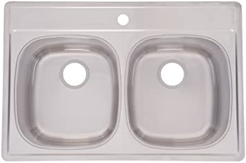 FrankeUSA DSK851-18BX Double Bowl Stainless Steel 33x22in. Topmount Sink