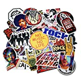 Punk Rock Band Stickers 160PCS Stickers Pack Rock and Roll Music Stickers Vinyl Waterproof Decals for Electric Guitar Bass Drum Laptop Skateboard Motorcycle (Color: Rock Band Stickers (160pcs))