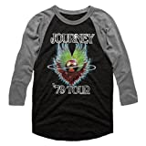 American Classics Journey 1979 Vintage Black Premium Heather Adult 3/4 Sleeve Raglan T-Shirt Tee (Color: Multicolored, Tamaño: Medium)