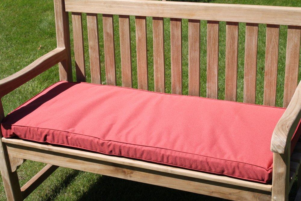 Gartenmöbel-Auflage - Auflage für 2-Sitzer-Gartenbank in Terrakotta