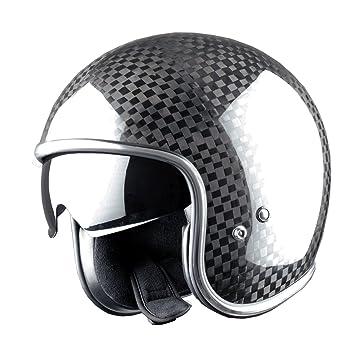 Astone Helmets AD-VINTAGE-VENM Casque Jet Vintage Fibre, Carbone Vendome, 57