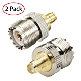TengKo SMA Female to UHF Female SO239 Connector RF Coaxial Coax Adapter for WiFi Antenna Repeaters Radio Signal Extension Cable(2 Pack) (Color: 2 Pack)