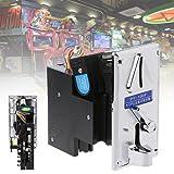 Fucung Advanced CPU Multi Coin Selector Acceptor for Vending Machine Arcade Game Mechanism Vending Machine Mech Arcade Game Ticket Redemption (Color: Silver)