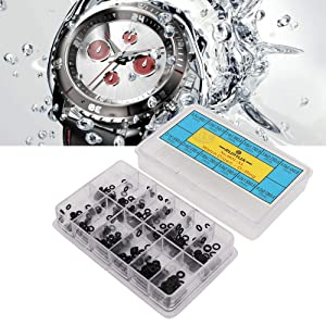 Mini Watch Crown, Rubber O-Shape Waterproof Seal Ring Wristwatch Accessories Repair Tools for Watchmakers