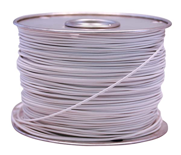 Southwire 55671423 Primary Wire, 12-Gauge Bulk Spool, 100-Feet, White (Color: White, Tamaño: 12-Gauge)