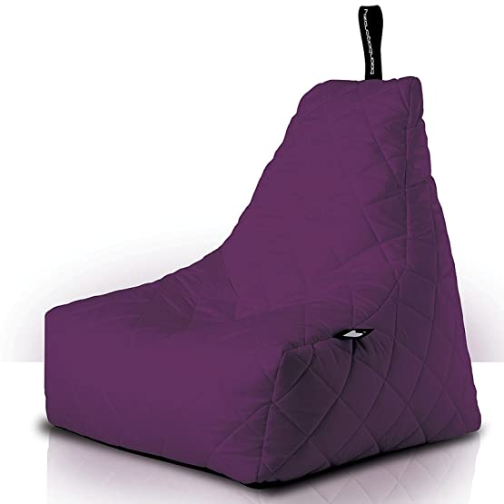b-bag mighty-b indoor/outdoor, Bean Bag, design lounge Seat, trapuntato, Berry