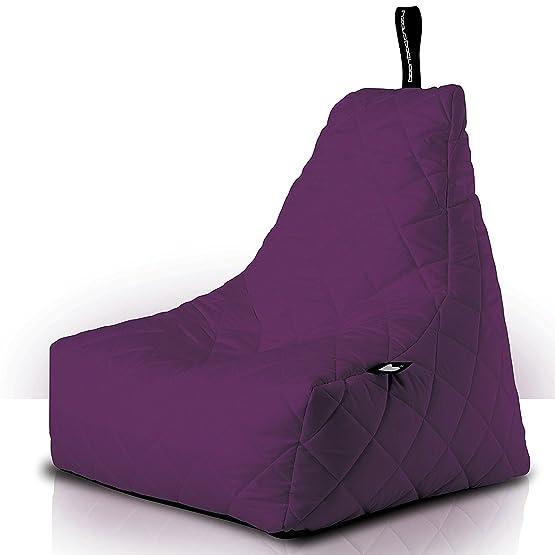 b-bag mighty-b indoor/outdoor, Bean Bag, design lounge Seat, trapuntato, Berry
