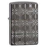 Zippo Decorative Pattern Design Pocket Lighter (Color: Black Ice Decorative Pattern)