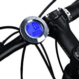 ICOCOPRO Bike Speedometer and Odometer Wireless - Flexible Round Shape,Waterproof Cycle Computer with LCD Backlight Display Multi-Function Bicycle Com