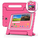 COOPER DYNAMO Kids case compatible with Galaxy Tab E 9.6 | Shock Proof Heavy Duty Kidproof Cover for Kids | Girls, Boys | Kid Friendly Handle & Stand, Screen Protector | Samsung SM-T560 T561 (Pink) (Color: Pink, Tamaño: Samsung Galaxy Tab E 9.6)