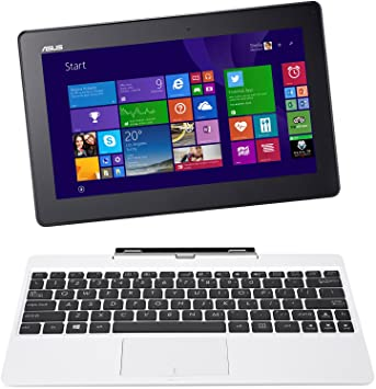 Asus T100TA-DK048H 25,65 cm (10,1'') Convertible Tablette Tactile (Intel Atom Z3775 1,4GHz, 2Go RAM, 32Go eMMC, Intel HD, Windows 8 Ecran tactile) Blanc