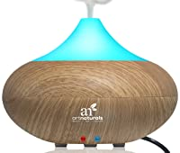 ArtNaturals Essential Oil Diffuser and Humidifier – Electric Cool Mist Aromatherapy Aroma Diffuser – Therapeutic Spa Fragrance For The Whole House – Auto Shut-off & 7 Color LED Lights Changing via Amazon