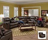 SIMMONS 50745 RIVERSIDE SECTIONAL THEATER CUPHOLDERS BROWN LEATHER FLIP TABLE