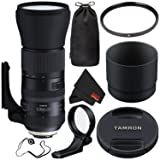 Tamron AFA022C-700 SP 150-600mm f/5-6.3 Di VC USD G2 for Canon EF (International Verion) No Warraty + 95mm UV Filter + Lens Cap Keeper + Microfiber Cloth Bundle (Color: Canon EF, Tamaño: Standard)