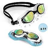 TOPLUS Swim Goggles, Swimming Goggles No Leaking Anti Fog UV Protection Triathlon for Adult Men Women Youth Kids Child