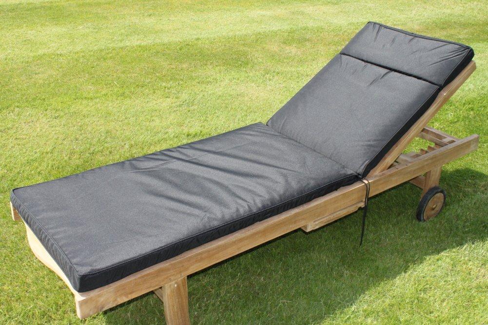 Gartenmöbel-Auflage - Auflage für Gartenliegestuhl in Schwarz