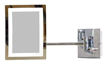 American Imaginations AI-12-558 Rectangle LED Mirror with Light Dimmer and 3x Zoom, 6.25-Inch x 8.5-Inch
