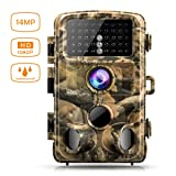 Campark Trail Game Camera 14MP 1080P Waterproof Hunting Scouting Cam for Wildlife Monitoring with 120°Detecting Range Motion Activated Night Vision 2.4
