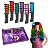 Temporary Hair Color Chalk Combs Kit for Girls Hair Salon Games, Birthday Party,Cosplay and Halloween Hair Dyeing - Pretty Gifts for Kids (Color: color6)